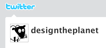 Design the Planet has a Twitter account